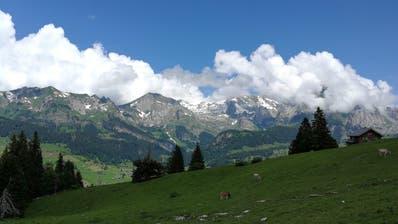 Vor dem Obertoggenburg – hier vom Klangweg aus fotografiert – macht die Hitze halt. (Bild: Ruben Schönenberger)