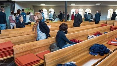 Kirche ohne Predigt, dafür mit verschiedenen Stationen zu einem Thema: So sah es an einem Sonntag im Mai in der Evangelisch-reformierten Kirche Bruggen aus. (Bild: Michel Canonica - 19. Mai 2019)