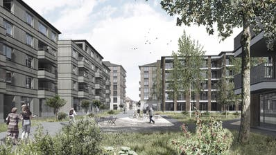 Die Höhe der Gebäude im Vordergrund (links und rechts) darf beibehalten werden - die beiden im Hintergrund müssen reduziert werden. (Visualisierung: PD)