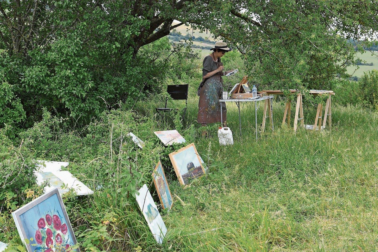 Die Normandie inspiriert Künstler zur Arbeit im Freien.