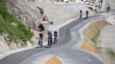 Neue Route für Velofahrer und Wanderer in der Schöllenen