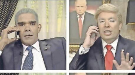 Oben: Schauspieler Dion Flynn (links) und Talkshow-Moderator Jimmy Fallon (rechts), die Barack Obama und Donald Trump imitieren. Unten: Ein sogenanntes Deepfake-Video, das die Gesichter von Flynn und Fallon durch das der US-Präsidenten ersetzt. Bild: Youtube