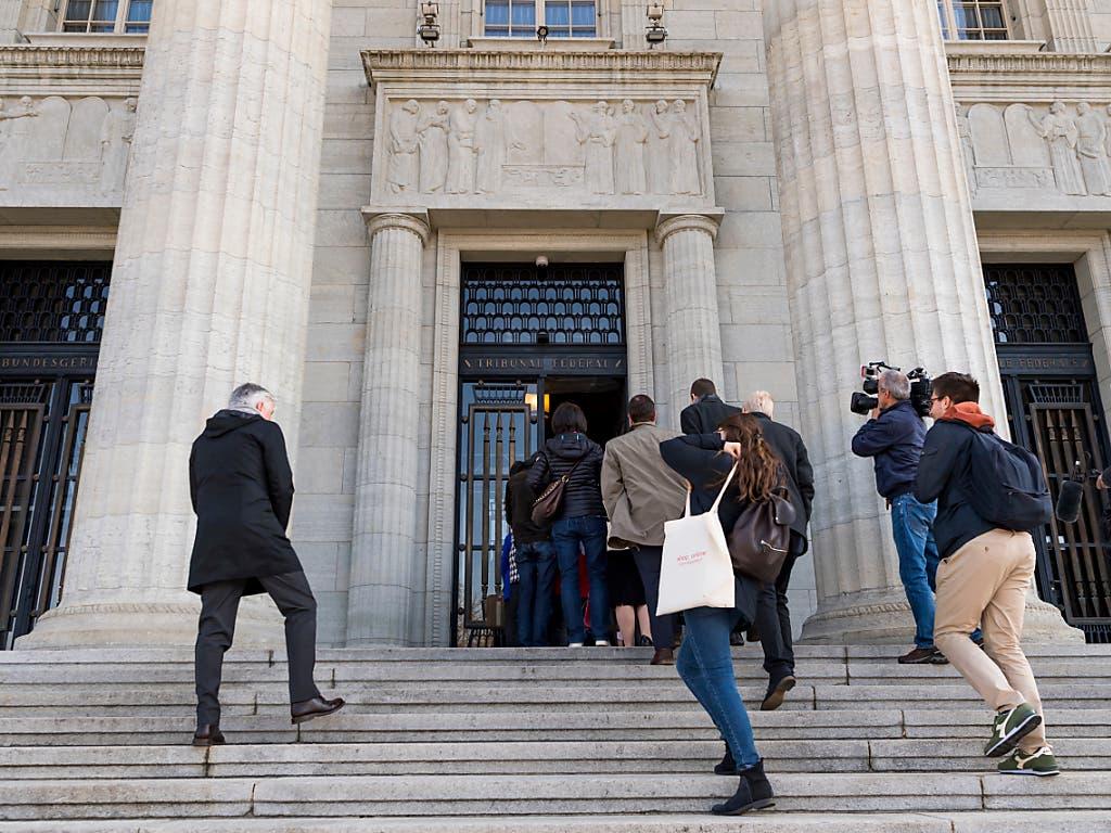 Das Bundesgericht in Lausanne sprach sich gegen die Testosteron-Limits und damit für Caster Semenya aus (Bild: KEYSTONE/JEAN-CHRISTOPHE BOTT)