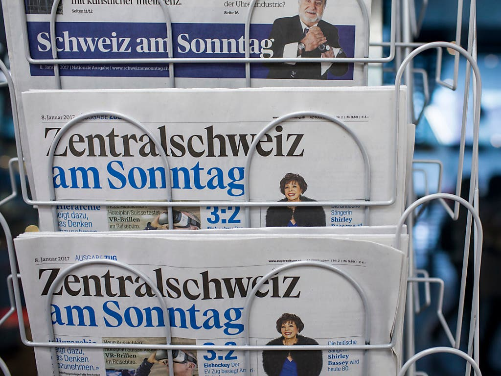 Die «Zentralschweiz am Sonntag» ist am heutigen Sonntag zum letzten Mal erschienen. (Bild: KEYSTONE/ALEXANDRA WEY)