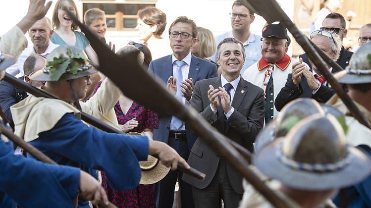 Schlachtfeier in Sempach mit besonderer Dernière – und Lob vom Bundesrat