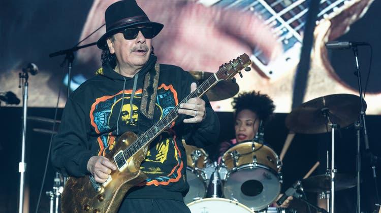 Carlos Santana auf der Bühne im Napa Valley vor zwei Wochen. (Bild:Jim Bennett/Getty Images)