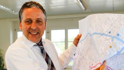 Dominik Gemperli, Gemeindepräsident von Goldach und Vorsitzender der Steuerungsgruppe von «Autobahnanschluss Plus», ist vom verkehrstechnischen Gesamtpaket überzeugt. (Bild: Rudolf Hirtl)
