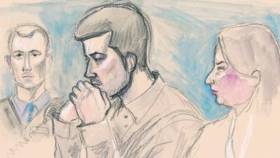 Das Bundesgericht hat die Beschwerde von Thomas N. abgewiesen: Der Vierfachmörder von Rupperswil bekommt keine vollzugsbegleitende ambulante Massnahme. (Zeichnung: Marco Tancredi)
