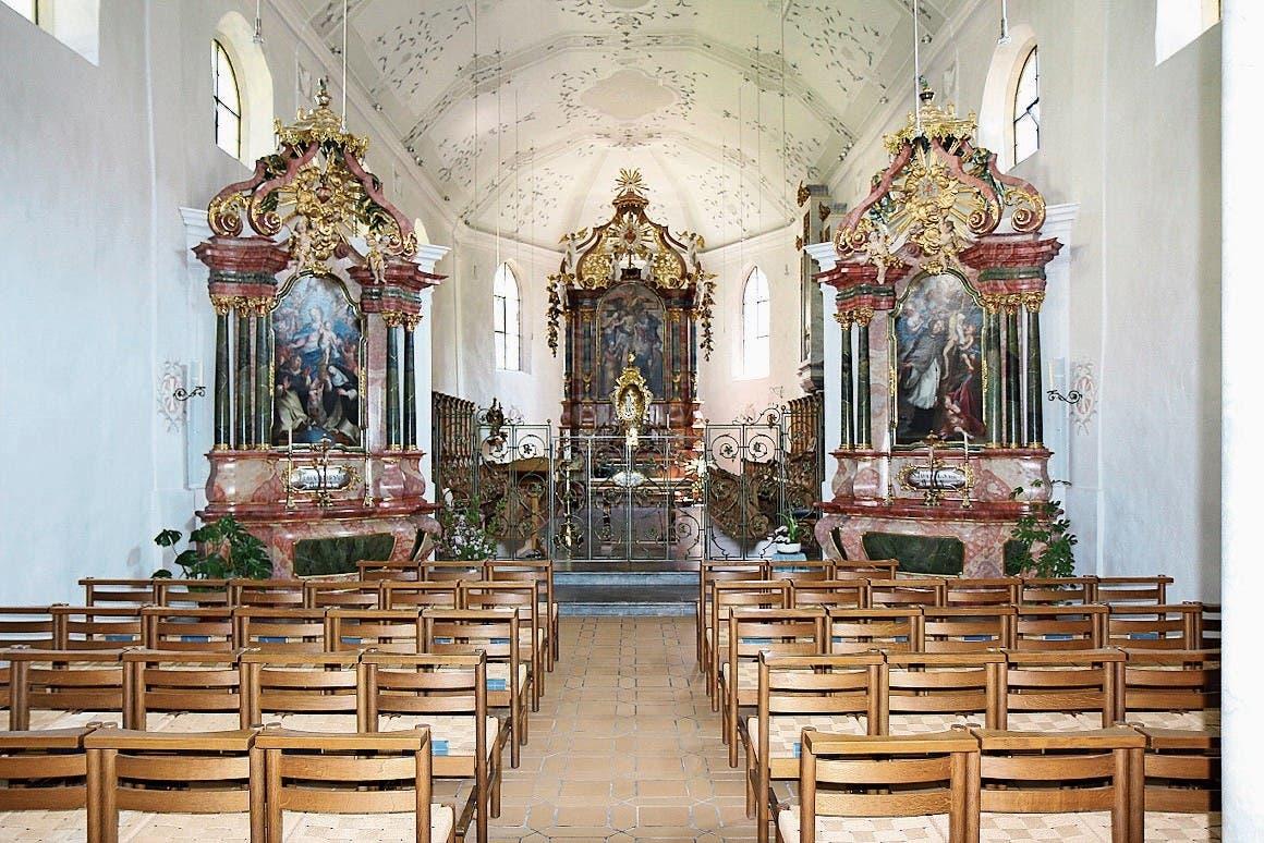 Wil: Die Ausstattung der Klosterkirche St.Katharina stammt aus der Zeit um 1750.