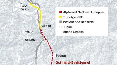 Ceneri-Tunnel soll Durchbruch im Nord-Süd-Verkehr bringen
