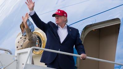 Donald Trump beim Abflug aus Irland. (Bild: Alex Brandon / AP, 7. Juni 2019)