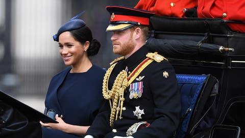 Meghan Markle zeigt sich an der Geburtstagsparade für die Queen