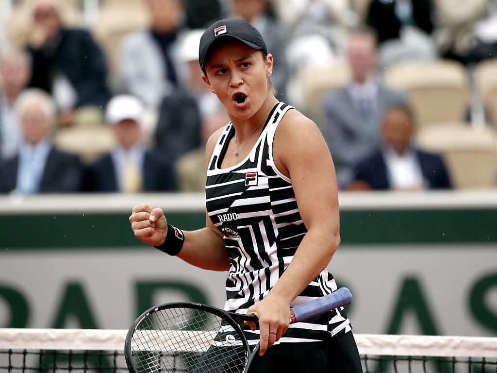 Ashleigh Barty war im Final die deutlich bessere Spielerin (Bild: KEYSTONE/EPA/YOAN VALAT)