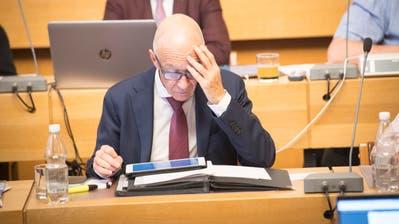 Stadtpräsident Thomas Scheitlin im Stadtparlament: Das Sparprogramm «Fokus 25» dürfte dort noch viel zu reden geben. Erstmals wohl schon am Dienstag an der Rechnungssitzung. (Bild: Ralph Ribi - 30. Oktober 2018)