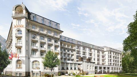 So wird das neue 5-Sterne Hotel Palace Engelberg Titlis aussehen. (Visualisierung: PD)