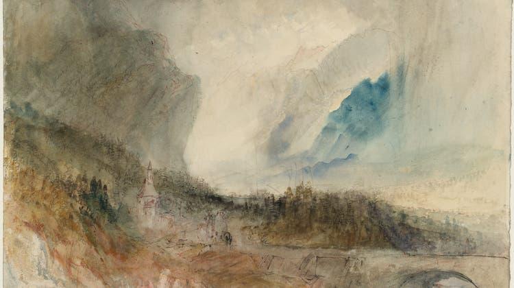 Auflösung der Form wie bei romantischen Komponisten: Der Gotthard-Sturm von William Turner (1775–1851) hängt jetzt im Kunstmuseum Luzern. (Bild: © Tate, London, 2019)