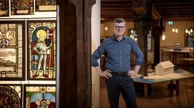 Christoph Lichtin im zweiten Stock des Historischen Museums von Luzern. (Bild: Pius Amrein, 8. Juli 2019)