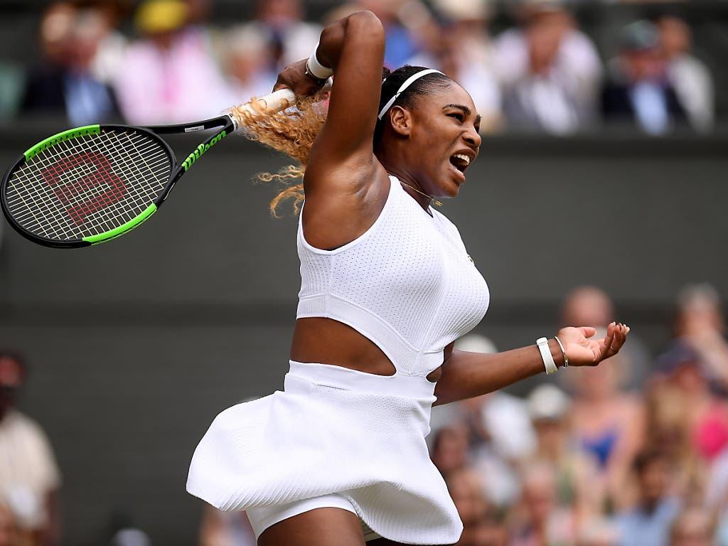 Serena Williams muss weiter auf ihren 24. Grand-Slam-Titel warten (Bild: KEYSTONE/EPA Getty Images Europe POOL/LAURENCE GRIFFITHS / POOL)