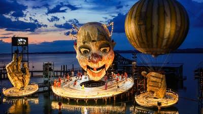 """Szene aus """"Rigoletto"""" von Giuseppe Verdi, aufgenommen am Freitag, 12. Juli 2019 auf der Bregenzer Seebühne(Bild: KEYSTONE/Eddy Risch)"""
