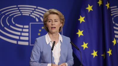 Die deutsche Ursula von der Leyen bei einer Pressekonferenz in Brüssel. (Bild: Olivier Hoslet/EPA, 10. Juli 2019)