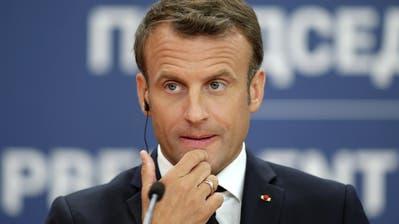 Der französische Präsident Emmanuel Macron. (Bild: Andrej Cukic/EPA, Belgrad, 15. Juli 2019)