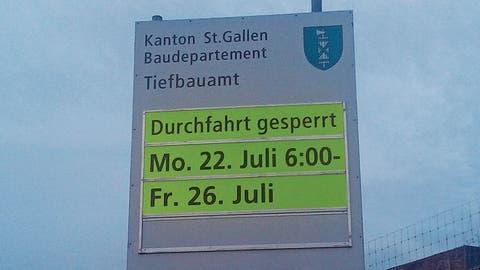 Verkehrsbehinderungen vorprogrammiert: Zwischen Lütisburg und Bazenheid wird ab Montag gebaut