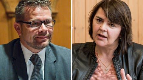 Thomas Rechsteiner und Antonia Fässler wollen in den Nationalrat. (Bilder: Martina Basista, Mareycke Frehner)