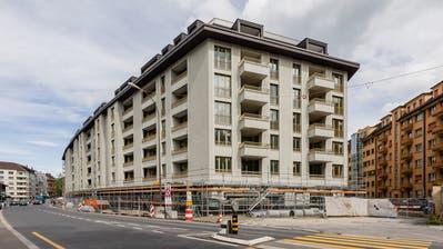 Blick dieABL-Siedlung Himmelrich 3 am Tag der offenen Tür. (Bild: PD, Luzern, 27. April 2019)