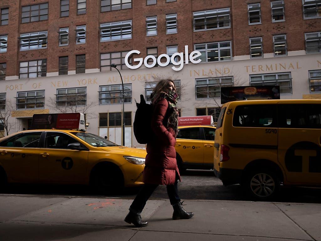 Das Bürogebäude der Alphabet-Tochter Google in New York. (Bild: KEYSTONE/AP/MARK LENNIHAN)