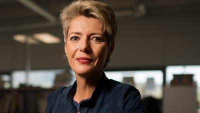 Bundesrätin Karin Keller-Sutter hält am 31. Juli die Rede zum Nationalfeiertag in Rorschach. Vor ihr beehrten Alain Berset und Ignazio Cassis die Feier. (Bild: Benjamin Manser)