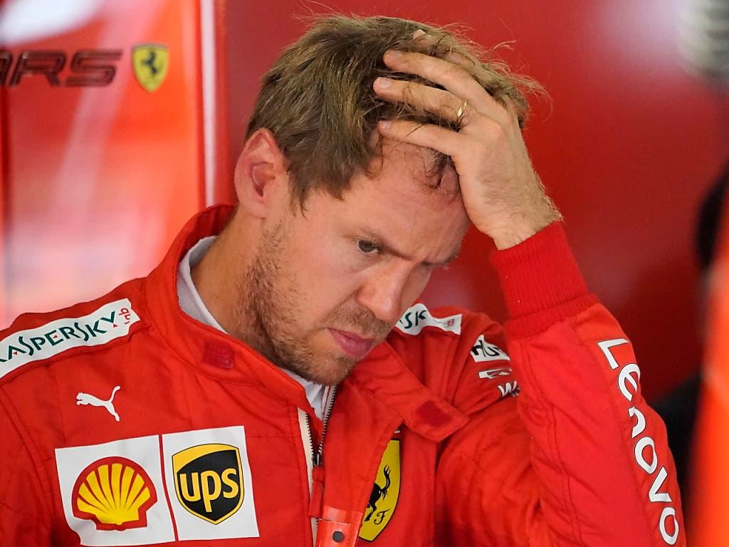 Es war bisher eine Saison zum Haareraufen für Sebastian Vettel (Bild: KEYSTONE/EPA/RONALD WITTEK)