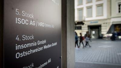 «Es geht um die Meinungsvielfalt»: Eingang zu den Büros von «Die Ostschweiz» an der Marktgasse in St.Gallen.. (Bild: Ralph Ribi)