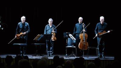 Interpretierten Schubert auf höchstem Niveau: die Musiker des Auryn-Quartetts. (Bild: Stefan Kaiser, Steinhausen, 28. Juli 2019)