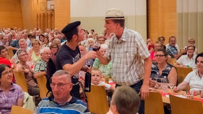 2017 war das Weindorf Salgesch zu Gast an der Bundesfeier in Gossau. (Bild: Urs Bucher)