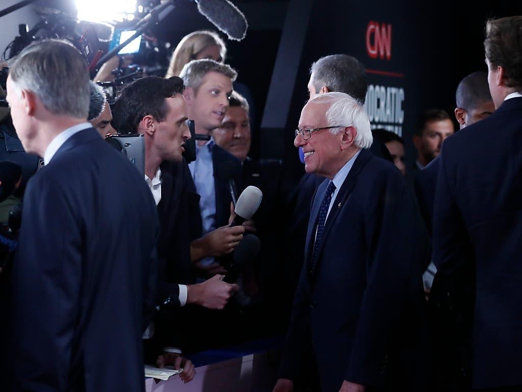 Verteidigte seine Idee einer staatlichen Krankenversicherung: Senator Bernie Sanders. (Bild: KEYSTONE/AP/CARLOS OSORIO)