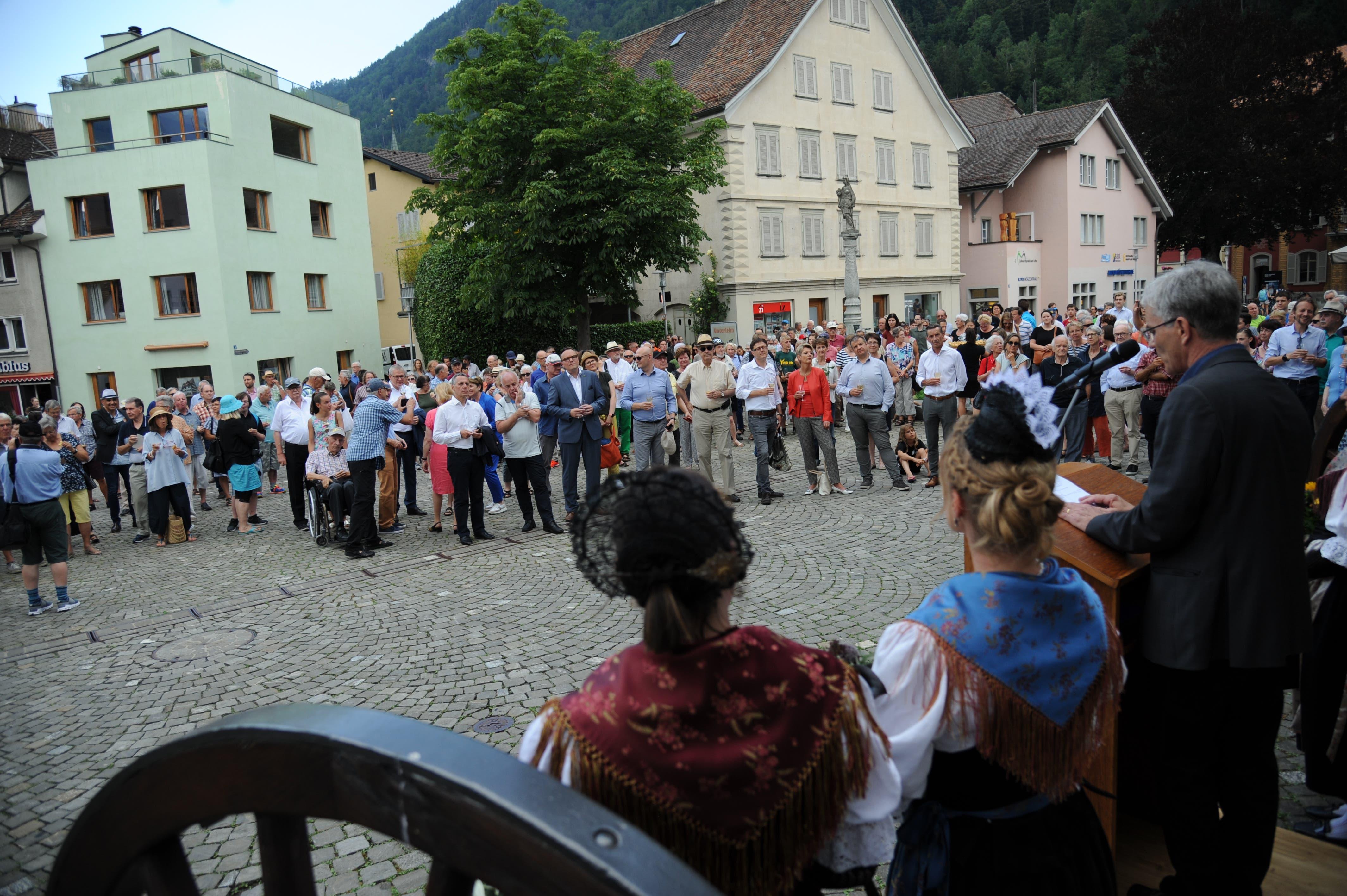 Bundesratsbesuch in Uri: Der Besuch zog viel Volk an. (Bild: Urs Hanhart, 4. Juli 2019)