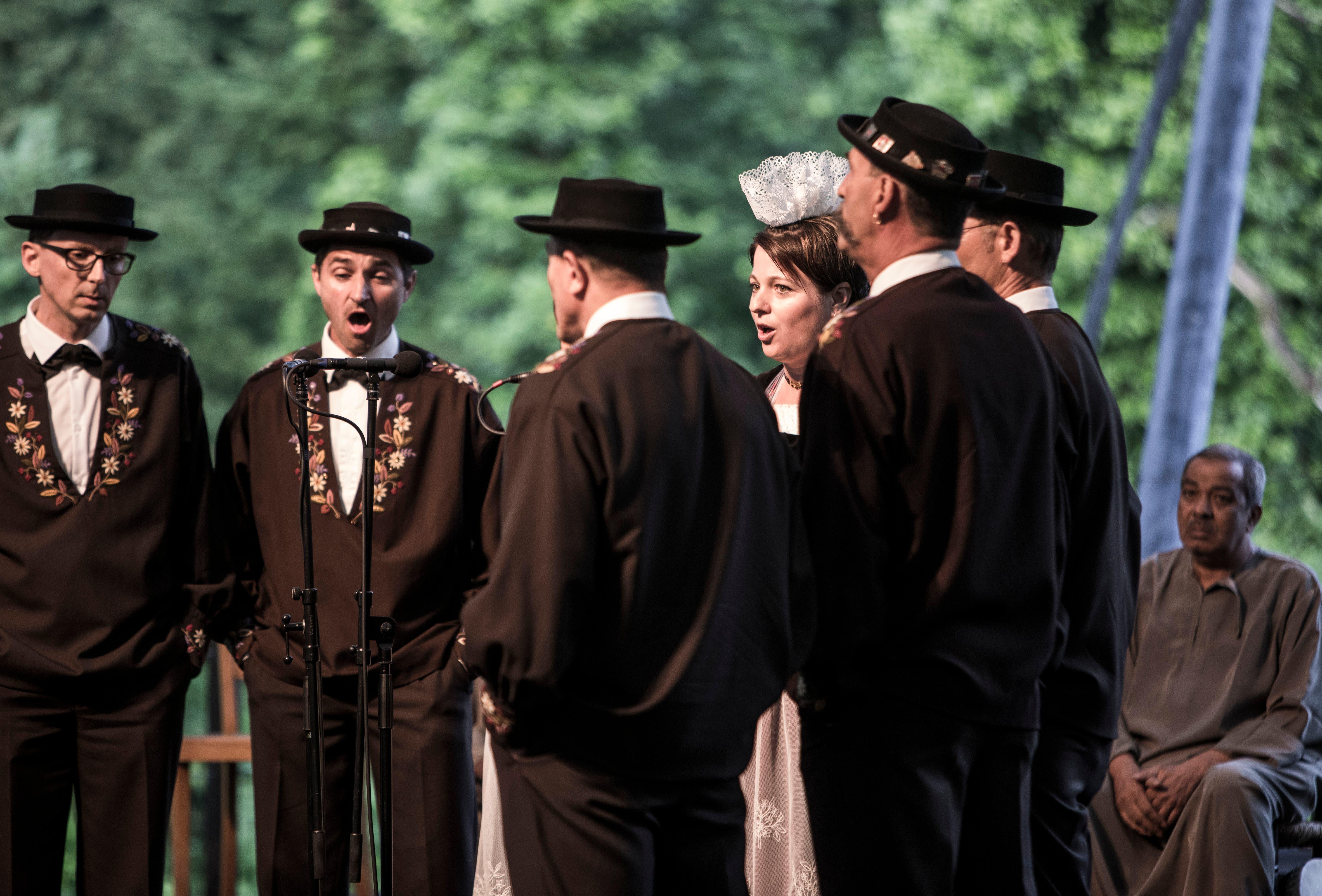Auftritt der Obwaldner Jodlergruppe «Heiterluft».