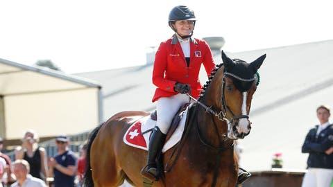 Ein starkes Team:Aaliyah Laurinomit«Cairo vd. Pikkerie Z» in der Eschliker Reitanlage Herdern. (Bild: Christoph Heer)