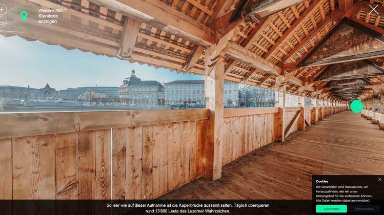 Die Kapellbrücke. (Bild: Jakob Ineichen, Luzern, 6. Juli 2017)