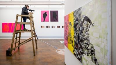 Auch die Hochschule Luzern – Design & Kunst stellte schon in Akku-Räumen aus. (Bild: Philipp Schmidli, Emmenbrücke, 29. März 2019)