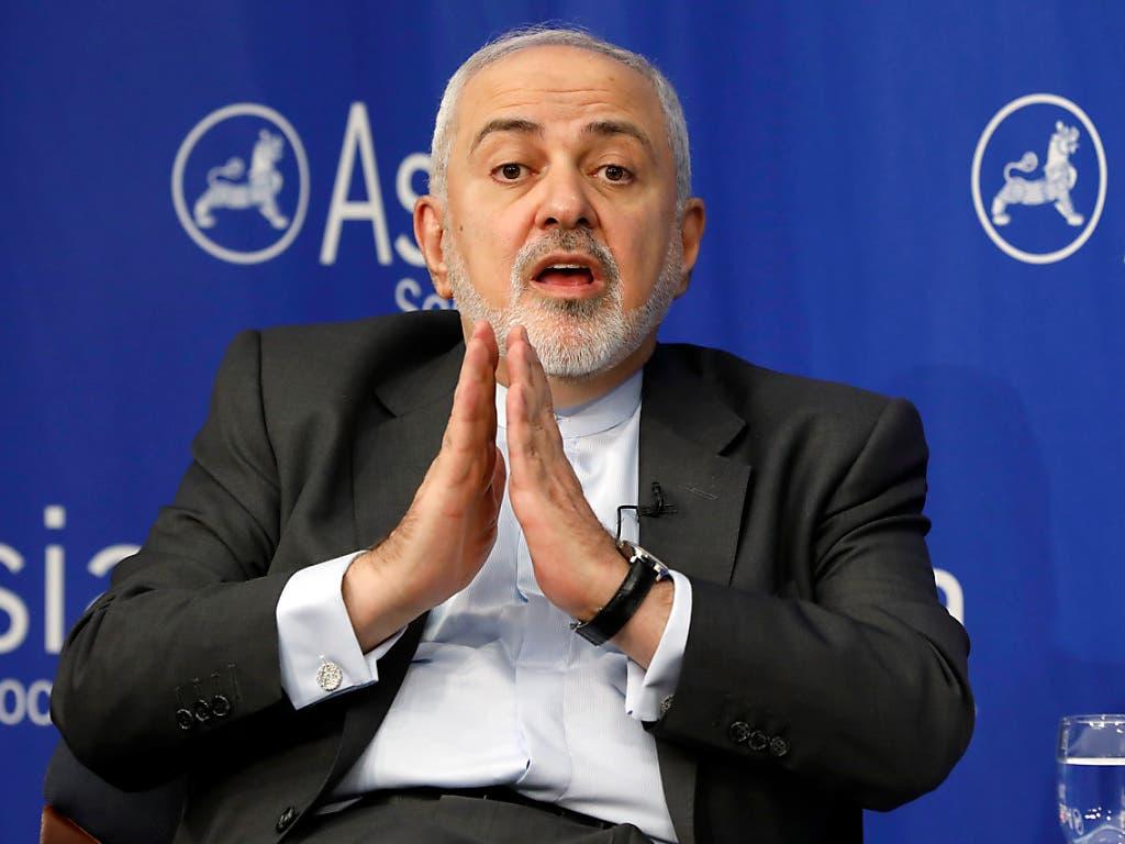 Der iranische Aussenminister Sarif gehört zu den Architekten des internationalen Atomabkommens mit dem Iran. (Bild: KEYSTONE/AP/RICHARD DREW)