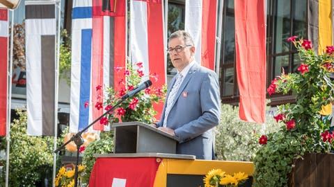 Grossratspräsident Kurt Baumann appeliert an das gesellschaftliche Engagement der Bürgerinnen und Bürger. (Bild: Andrea Stalder)