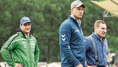Drei der Favoriten: Armon Orlik, Pirmin Reichmuth und Joel Wicki (von links). (Bild: Alexandra Wey / Keystone, 7. Juli 2019)