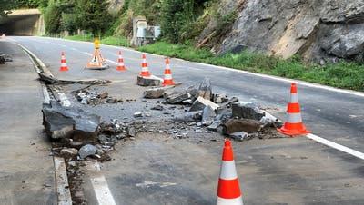 Nach Steinschlag: Kantonsstrasse Brunnen – Gersau bis auf Weiteres gesperrt