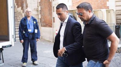 Luigi di Maio, jetzt Arbeits- und Wirtschaftsminister, nach den Wahlen wohl wieder Sandwich-Verkäufer ... Bild: Angelo Carconi/ANSA/AP/Keystone
