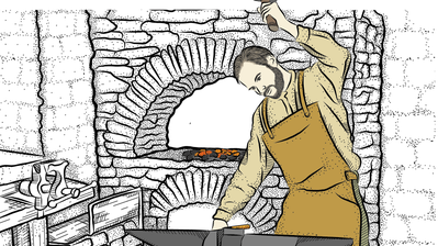 Ein heisser Beruf: Schmiede verbrachten viel Zeit in der Nähe ihres Ofens.
