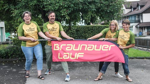 Monika Koch, Roland Lehner, Sereina Hinder und Karin Leemann sind die Organisatoren des Braunauer Laufes. (Bild: ZVG)