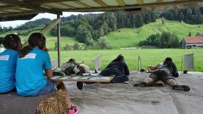 Das Feldschiessen im Obertoggenburg wird von einem Feldstand geschossen, in diesem Jahr in Nesslau. (Bild: Sabine Camedda)