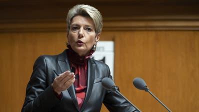 Justizministerin Karin Keller-Sutter. (Bild:KEYSTONE/Anthony Anex)