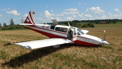Die beiden Flugzeuginsassenkamen mit dem Schrecken davon. (Bild: Kapo TG)